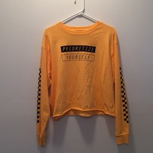 Cropped Prioritize Yourself Long Sleeve